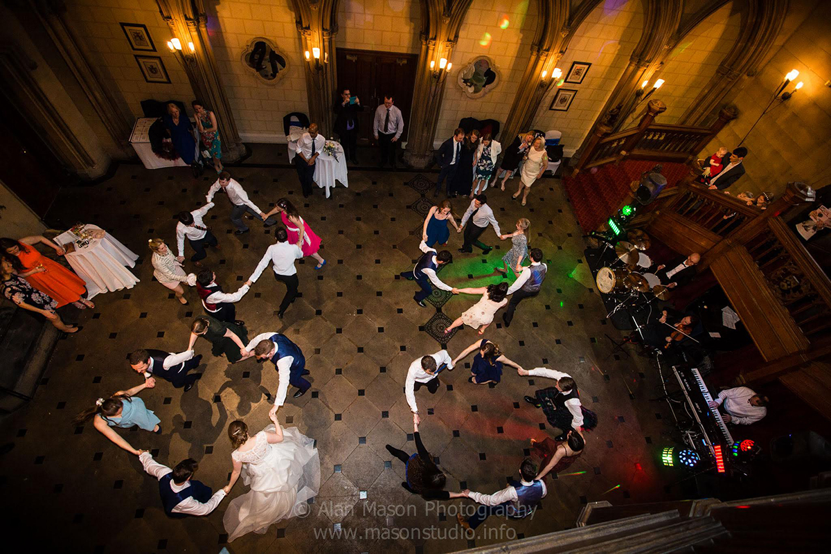 Ceilidh Knights Band at Matfen Hall Northumberland
